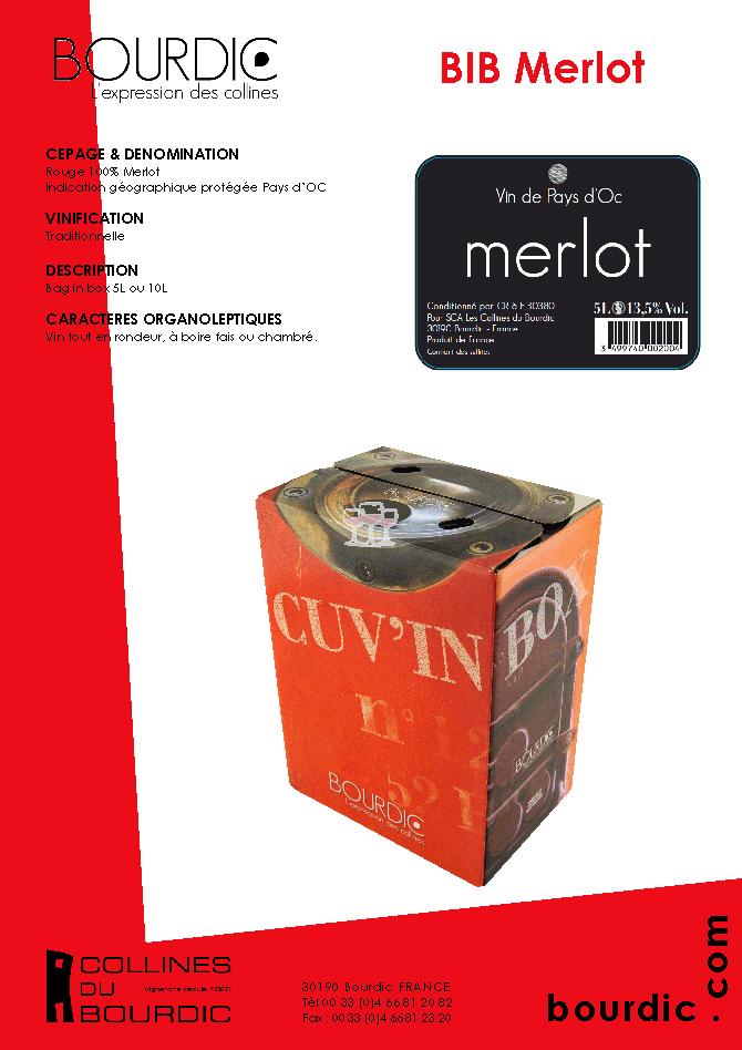 Bourdic Merlot Bag in Box