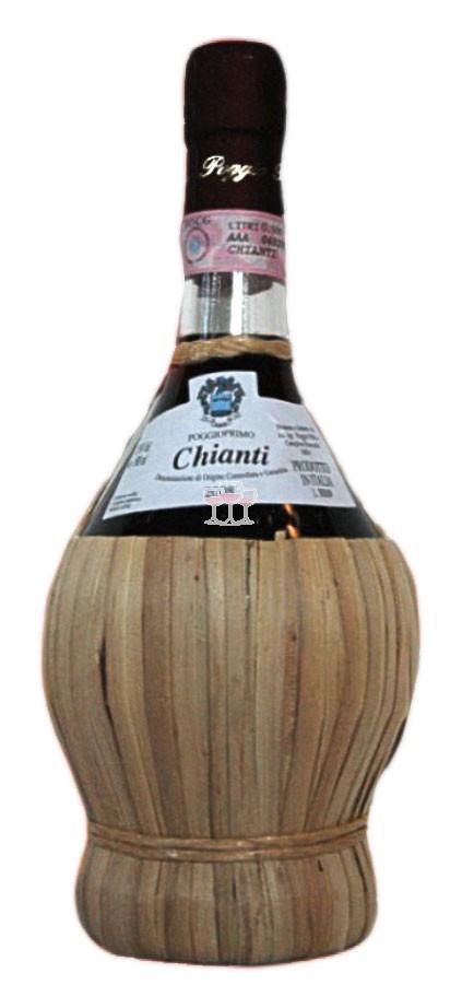 Chianti mit der traditionellen Bastummantelung 0,5 Ltr Flasche