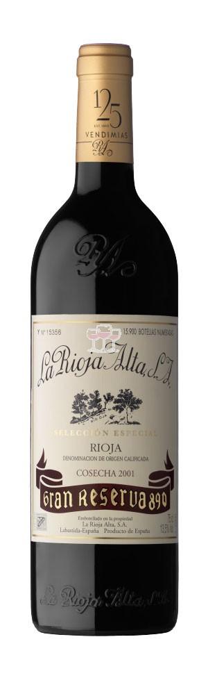 La Rioja Alta Gran Reserva 890 Cosecha 2001