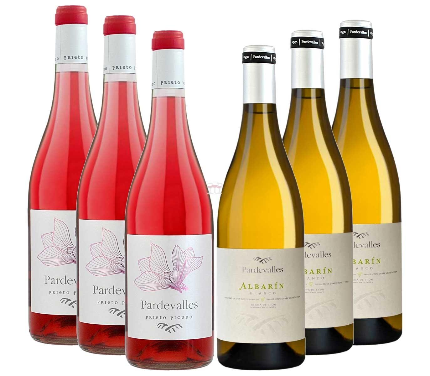 Bodegas Pardevalle Paket bestehend aus 3 Fl Albarin und 3 Fl. Prieto Picudo