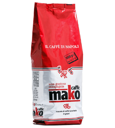 Espresso Mako Red Pack 1kg Kaffee Italien Neapel