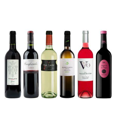 Degustationspaket bestehend aus 2 Fl. Rotwein, 2 Fl Weißwein und 2 Fl Rosewein