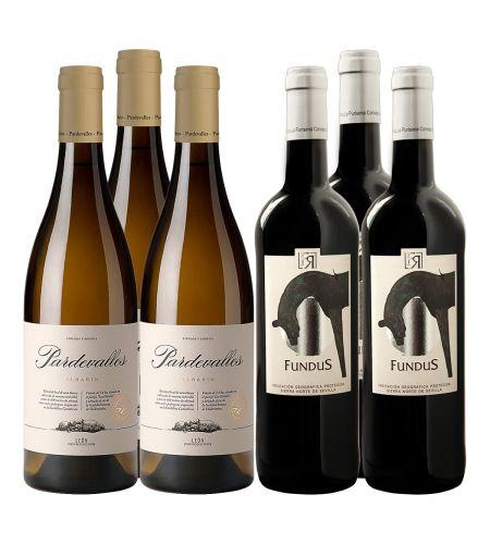 Kennenlernpaket: Bestehend aus jeweils 3 Flaschen Pardevalles Blanco 2020 und 3 Fl Fuente Reina Fundus 2019