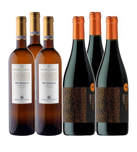 Dieses Kennenlernpaket enthält: 3 FL. Viñedos de Nieva Pie Franco 2020, DO Rueda sowie 3 Fl. Masroig Ferest 2018, DO Montsant