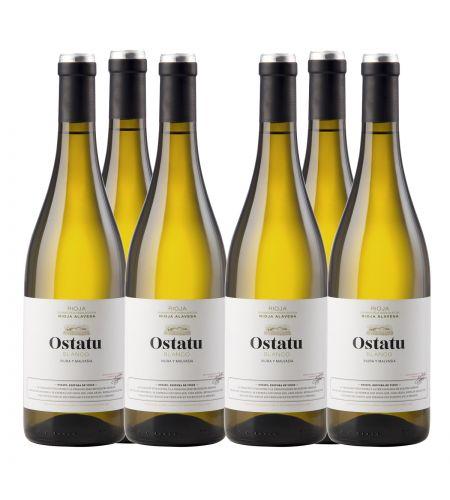6 Fl Angebot Bodegas Ostatu Blanco Weißwein Rioja Spanien trocken