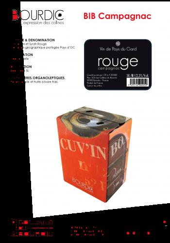 Les Collines du Bourdic BIB Rouge IGP Pays d'Oc Wein Frankreich