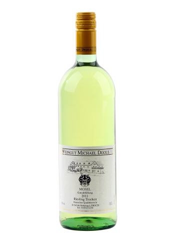 Dixius Riesling trocken 1 Liter Weißwein Deutschland trocken