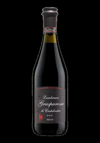Cantine Settecani Lambrusco  Grasparossa Secco DOP Rotwein Italien trocken