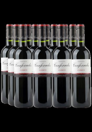 Canforrales Tempranillo Clasico 12er Angebot DO La Mancha Rotwein Spanien trocken